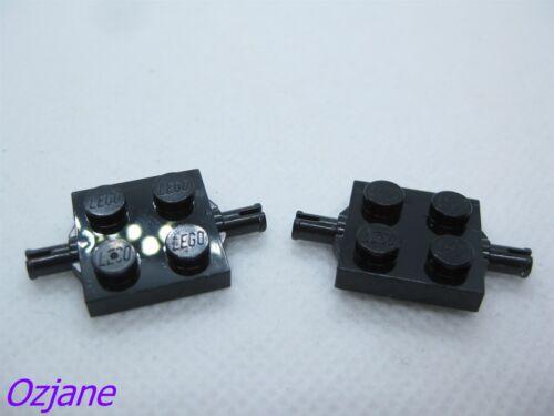 LEGO PART 4600 BLACK PANEL 4 X 4 X 6 CORNER CONVEX RIBBED X 2 PIECES