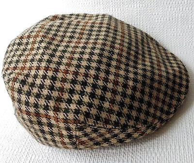 Vintage 1960s tweed flat cap Greenwoods mens 59 cm British Size 7 1/4 Large