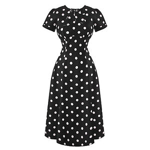 Hell-Bunny-Madden-Black-1940s-Wartime-WW2-Polka-Dot-Retro-Vintage-Victory-Dress