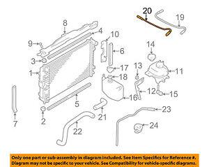 jaguar oem xk8 radiator coolant recovery tank bottle overflow hose rh ebay com