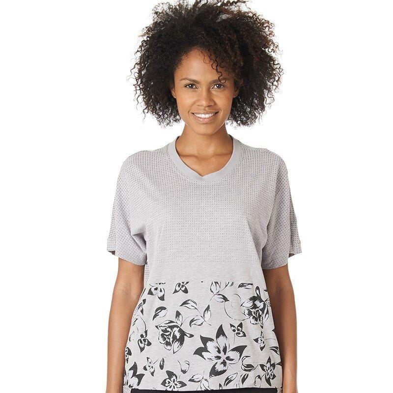 Adidas Stella Mccartney Climacool Aeroknit T-shirt Gris Perle Heather Taille S