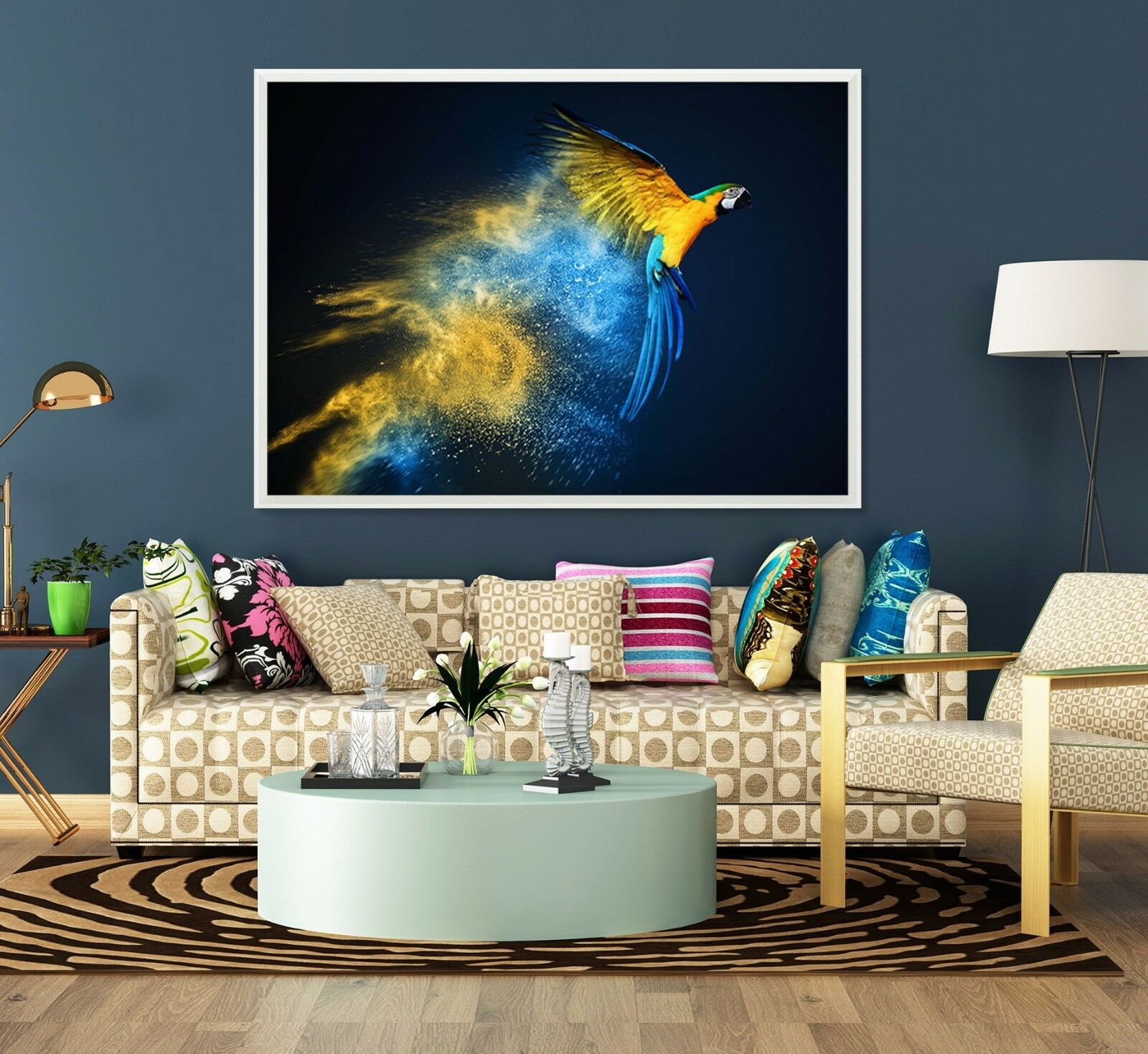 3D Parrot Paint Poster 8 Framed Poster Home Decor Drucken Painting Kunst WandPapier