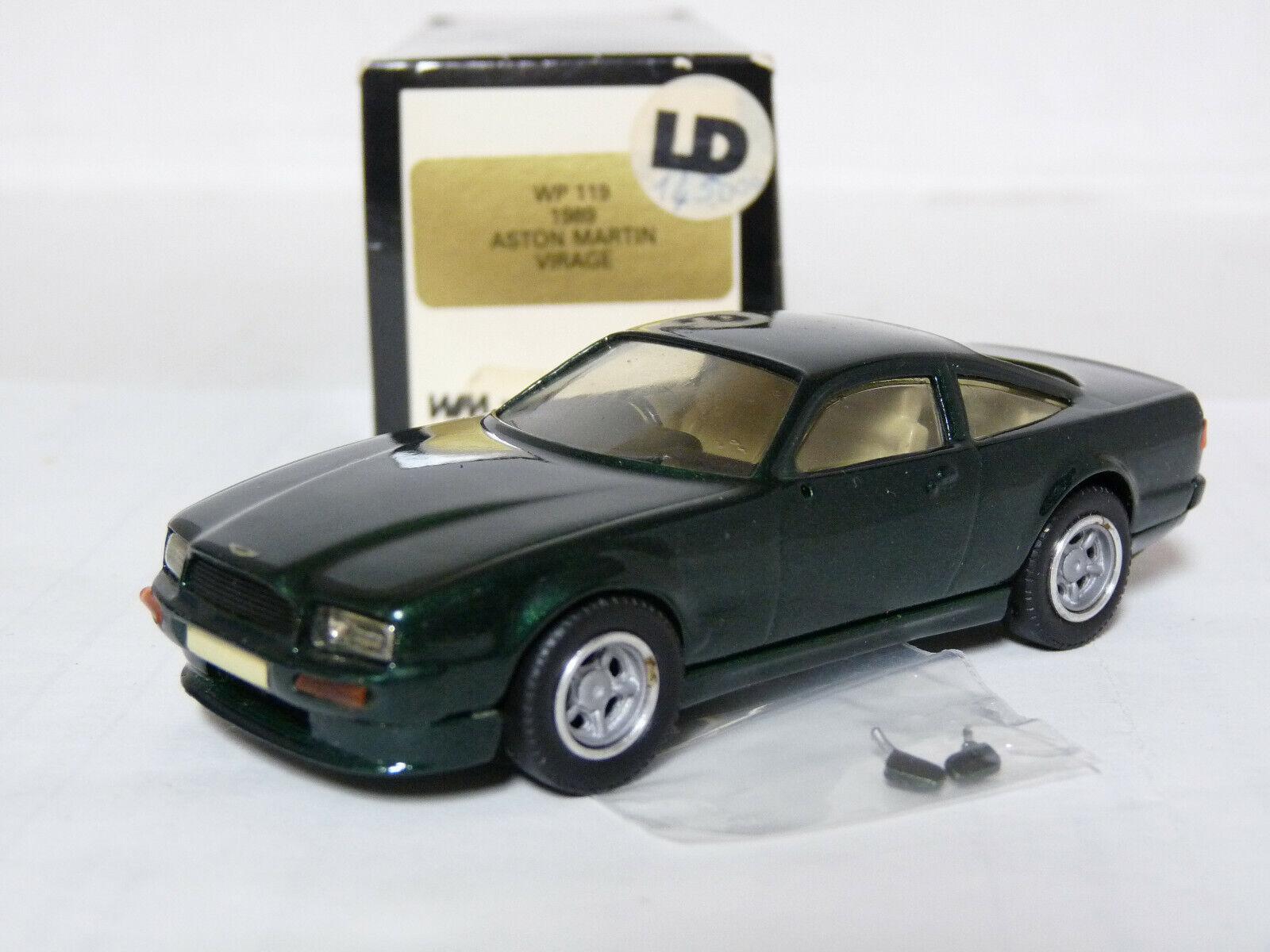 orden ahora con gran descuento y entrega gratuita Western WP119 Aston Martin Virage Hecho Hecho Hecho a Mano 1 43 1989 Coche Modelo de Metal blancoo  nuevo estilo
