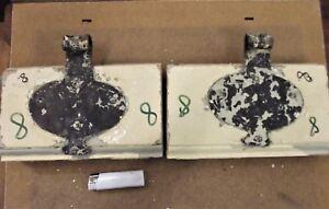 Eisen,1860 8 Krankheiten Zu Verhindern Und Zu Heilen Honig Scharnier Paar Türscharniere Ochsenauge Antik,geschmiedet Nr