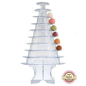 10-Tier-Round-Macaron-Tower-Macaron-Stand-Macaroon-Tower-w-Acrylic-Base