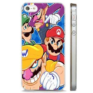 SUPER-Mario-90-S-NINTENDO-GAME-chiaro-Telefono-Custodia-Cover-si-adatta-iPhone-5-6-7-8-X