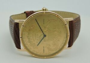 eeb449ae1b75 Image is loading CORUM-18K-Gold-20-Dollar-Coin-Watch-Year-