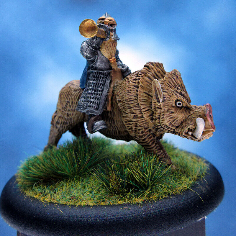 Painted  Old Glory Miniature Dwarf Boar Rider  promotions discount