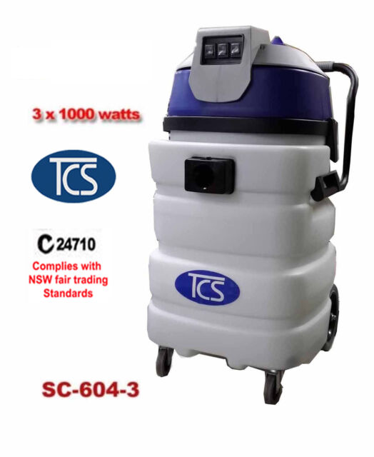 Commercial Industrial 90L Wet and Dry Vacuum Cleaner with Ametek Motor 3x1000W