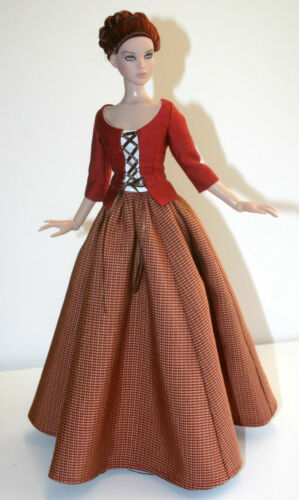 Outlander Scottish Claire Doll Clothing Sewing Pattern Cami /& Antoinette Tonner