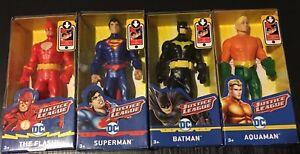 Mattel-DC-Justice-League-Superman-Aquaman-Batman-Flash-6-039-039-Figures-Lot-Of-4