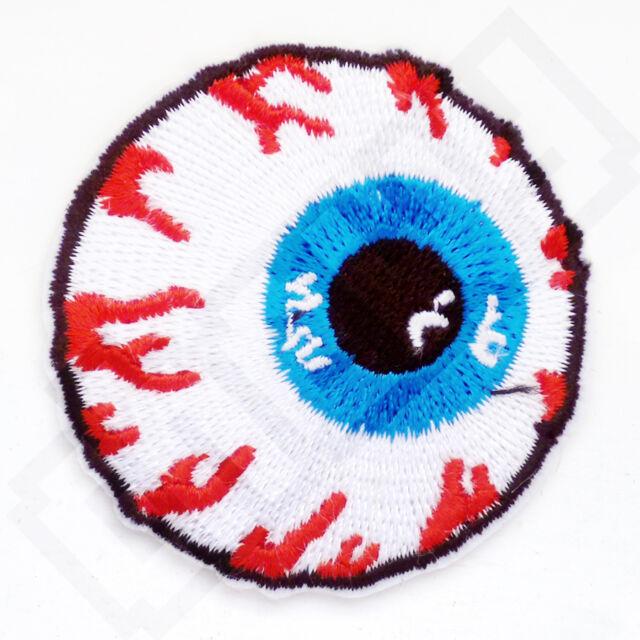 MISHKA Eyeball Logo Iron Sew On Patch Applique Skate Snow Board Beanie Cap Badge