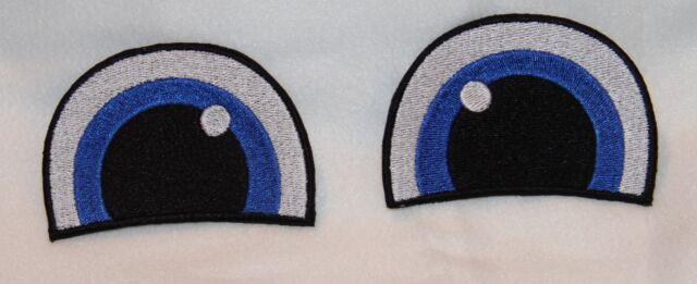 Augen 1 Paar Glubschi  Aufnäher NEU Aufbügler 5x8cm pro Auge Neu