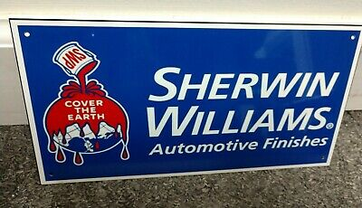 Sherwin Williams Auto Paint >> Sherwin Williams Automotive Paint Finishes Sign Ebay