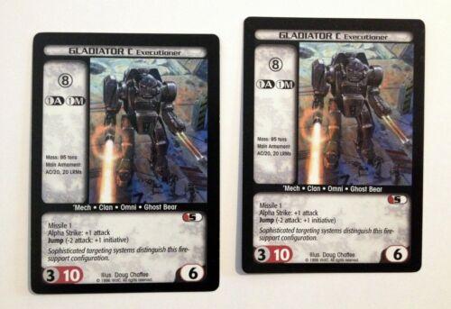 Details about  /Gladiator C Executioner 2 Battletech CCG Limited /'Mech