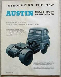 AUSTIN HEAVY DUTY PRIME MOVER Sales Specification Leaflet May 1961 #2039