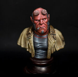 1-10-BUST-Hell-Boy-Resin-Figure-Model-Kit-Unassambled-Unpainted-BUST307