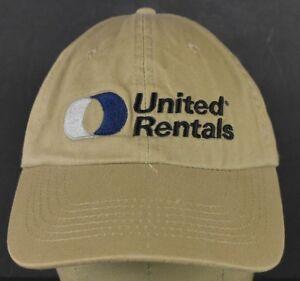Beige United Rentals Equipment Rent Embroidered Baseball
