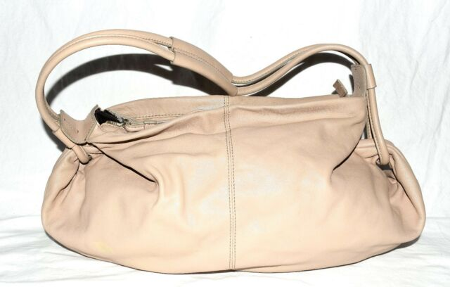 Banana Republic Beige Soft Butter Leather Dual Straps Joined Together Hobo  Bag 282f97e181dc6