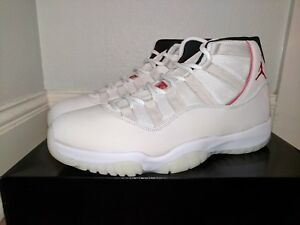 NIKE AIR JORDAN XI 11 RETRO PLATINUM TINT UNIVERSITY RED MENS 10.5 ... 7ba75c5a6
