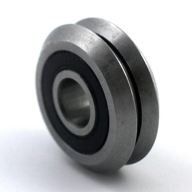 "RM2-2RS 3/8"" V Guide Way CNC Sealed V W Groove Ball Bearing 9.525x30.73x11.1mm"