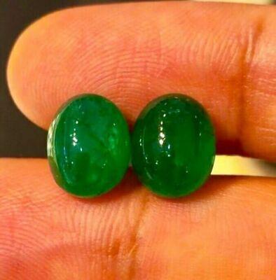 4 Cts 100/% Natural Zambian Emerald Oval Shape Cabochon Loose Gemstone 11x8x6 MM