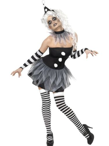 Ladies Circus Clown Costume Funny Women Fancy Dress Halloween UK 8-18