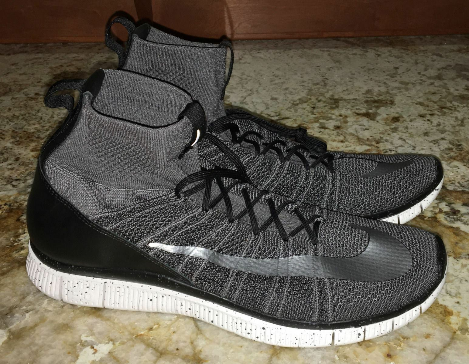 NIKE Free Flyknit Mercurial Superfly Dark Grey Black Silver Shoes NEW Mens Sz 12 Brand discount
