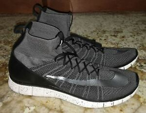 order online performance sportswear reasonably priced Details about NIKE Free Flyknit Mercurial Superfly Dark Grey Black Silver  Shoes NEW Mens Sz 12