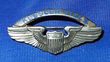 STERLING SILVER KEESLER FIELD USA PILOT WINGS PIN