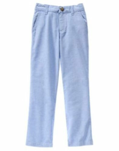 GYMBOREE EGG HUNT BLUE OXFORD DRESSY WOVEN PANTS 5 8 NWT
