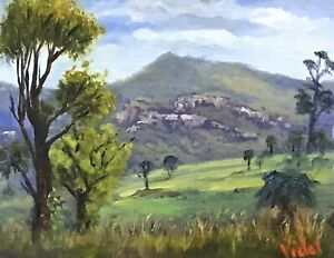 Original-oil-painting-Carnarvon-Gorge-Queensland-Oil-paint-on-linen-by-Vidal