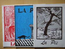 1994-LA PIE'-ALDO SPALLICCI-RASSEGNA BIMESTRALE-TRE FASCICOLI