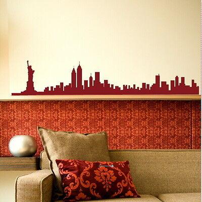 New York Skyline Wall Sticker / Interior Wall Decal / Big Skyline Transfer sky20
