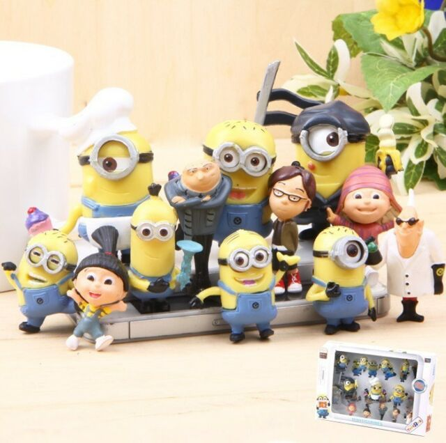 Despicable Me MINIONS Movie Toys Action Figures set of 12pcs Figures