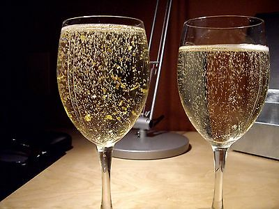 24ct Edible Gold Leaf 5 Sheets Champagne Drinks Cake