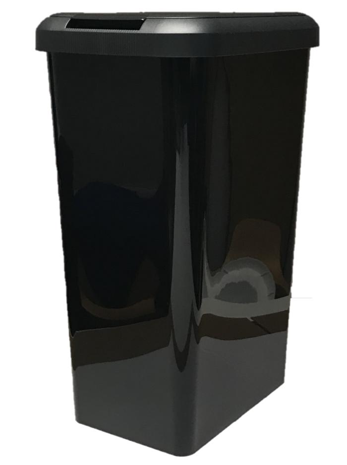 45L ALL schwarz TOUCH TOP BIN DUSTBIN RUBBISH BIN KITCHEN HOME PLASTIC RECTANGLE