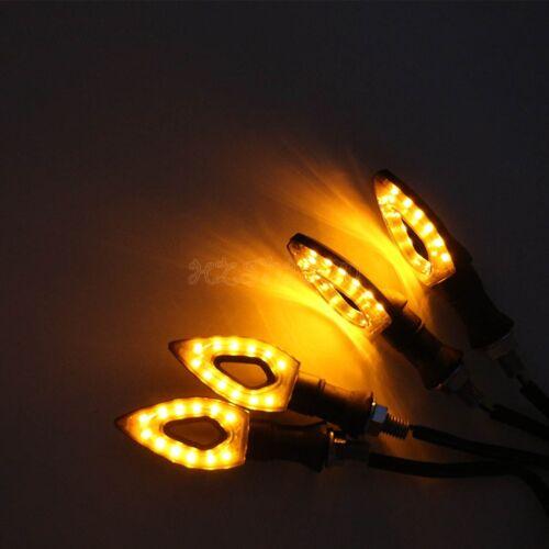 4PCS LED Turn Signals Light for Yamaha YZF R1 R6 R6S FZ1 FZR 600 750 1000 Fazer