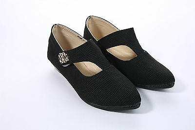 NEW GIRLS KIDS BACK TO SCHOOL SHOE MARY JANE FLAT BUCKLE BLACK PUMP SIZE 12-3