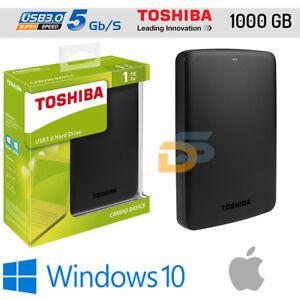 HARD-DISK-ESTERNO-2-5-1TB-USB-3-0-2-0-TOSHIBA-1000-GB-AUTOALIMENTATO-PER-MAC-OS
