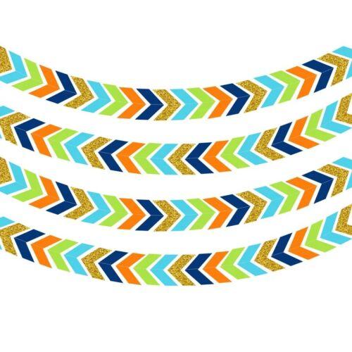 3 M style SCANDINAVE Suspension Gold flèches Fête Bannière Anniversaire Mariage Garland