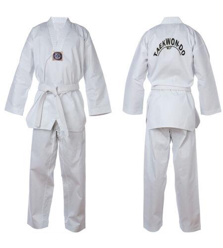 Taekwondo Suit Uniform White New TurnerMAX inc. FREE White Belt & FREE Delivery