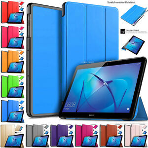 """Leather Smart Stand Shell Folio Flip Case Cover For Huawei MediaPad T3 10"""" Inch"""