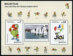 Mauritius-2019-MNH-Indian-Ocean-Island-Games-3v-M-S-Sailing-Boats-Sports-Stamps