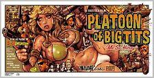 Rockin' Jelly Bean Silk screen print PBSP-02 Platoon of Big Tits-Me So Horny!2nd