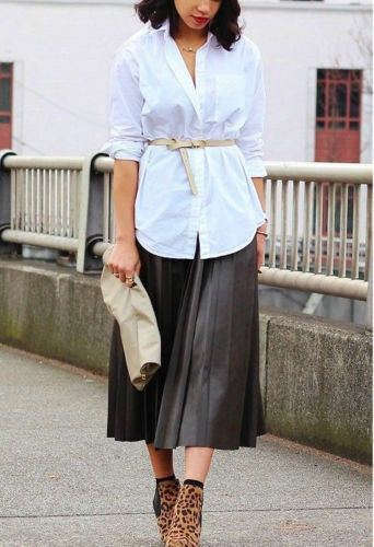 ZARA WOMENS FAUX LEATHER PLEATED SKIRT SIZE S M