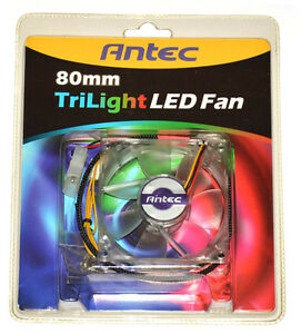 Antec-Trilight-LED-Transparent-80-x-80-x-25-mm-Luefter