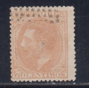 ESPANA-1879-USADO-SPAIN-EDIFIL-206-50-cts-ALFONSO-XII-LOTE-1