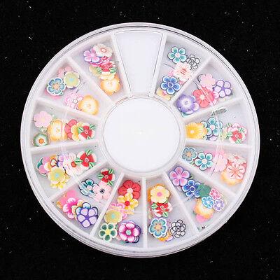 120pcs x 3D clay Fimo Daisy Flower Cute slices Wheel Nail Art DIY Craft A0587-6