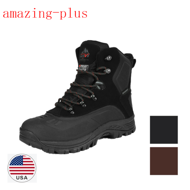 Men's Lace Up Insulated Waterproof Hiking Winter Warm Snow Boots Size 6.5 15 US